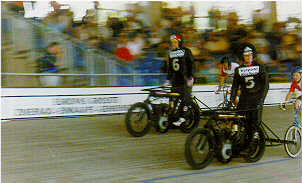 Motorpacers with stayers at high speed